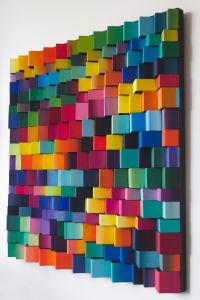 תמונה צבעונית | עיצוב בעץ | אמנות מקורית | פסיפס עץ | עיצוב הבית | עיצוב המשרד | רעיון למתנה | רעיון לעיצוב | עיצוב צבעוני |